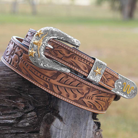 Tapered Floral Belt