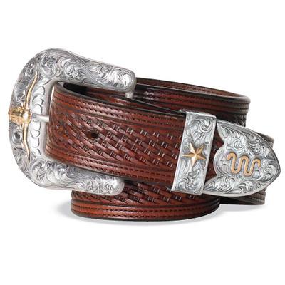Basketweave Brown Belt