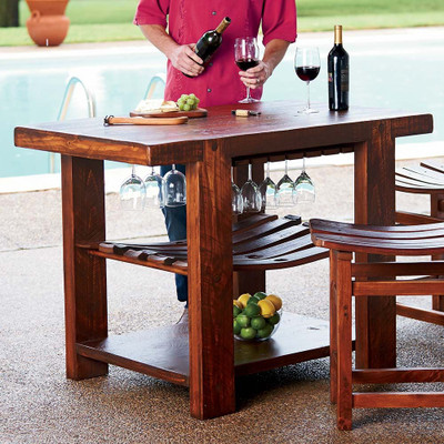 kitchen island with wine storage