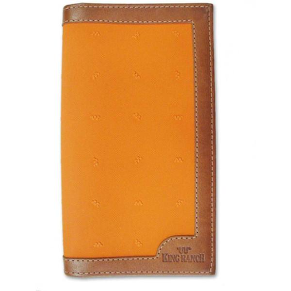 Orange Checkbook Wallet Canvas