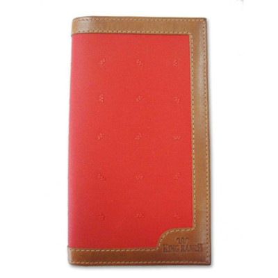 Red Checkbook Wallet Canvas