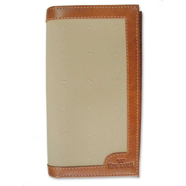 Tan Checkbook Wallet Canvas