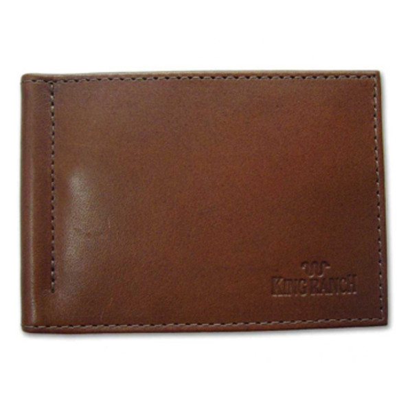 Leather Money Clip Card Wallet King Ranch Saddle Shop