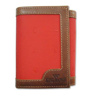 Tan Tri Fold Wallet Canvas