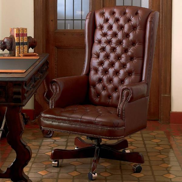 Leather Executive Office Chair King Ranch Saddle Shop