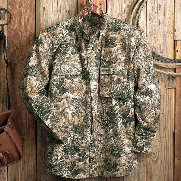 Camouflage Long Sleeve Ripstop Shir