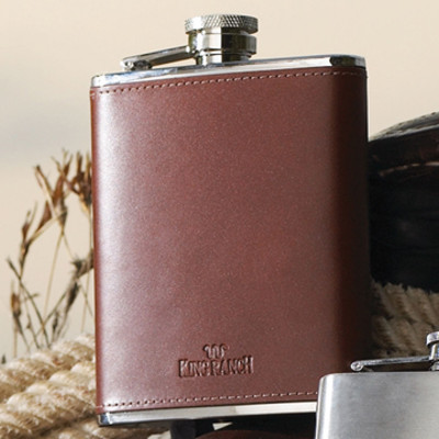 King Ranch Leather Flask