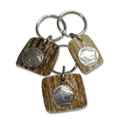 Antler Buffalo Nickel Key Ring