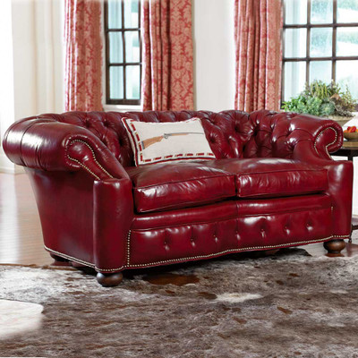 Promenade Red Loveseat