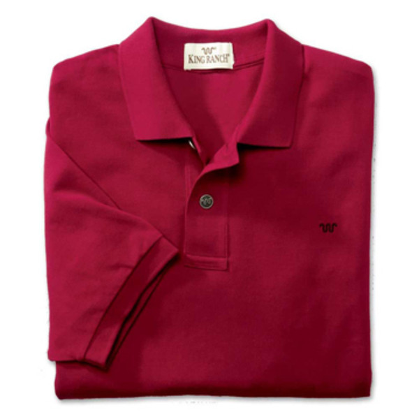 Burgundy Rancher's Polo Shirt