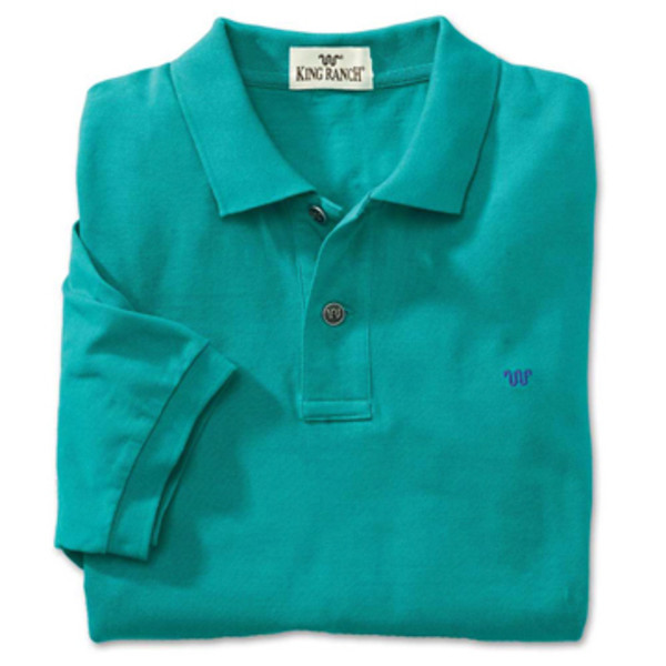 Teal Rancher's Polo Shirt