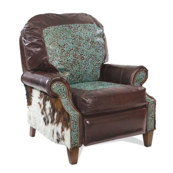 Turquoise Tooled Leather Recliner