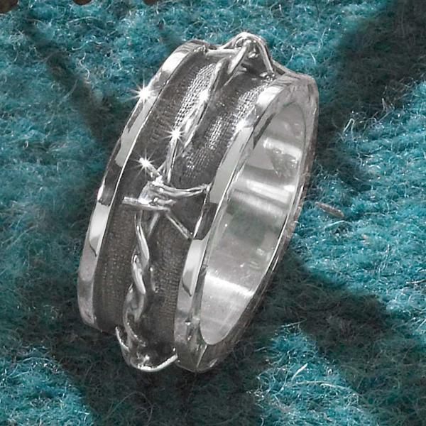 Men S Barbed Wire Ring