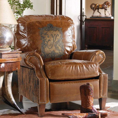 Personalized Leather Recliner
