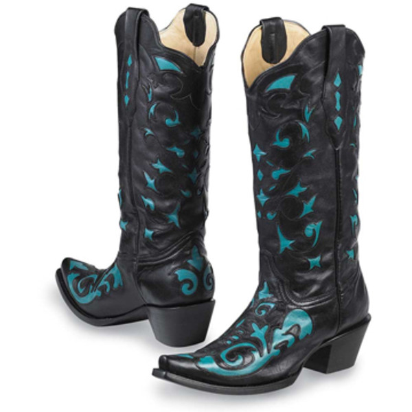 Turquoise Cut Out Boots