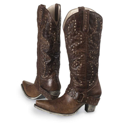 Ladies' Stud Rocker Boots