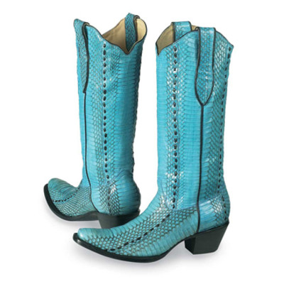 Turquoise Cobra Boots