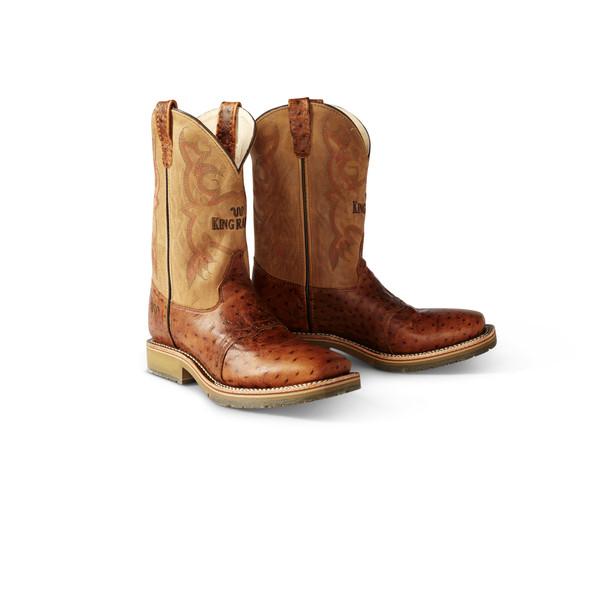 Ostrich Square Toe Cowboy Boots