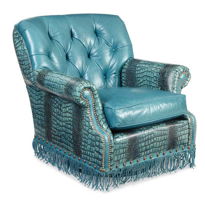 Turquoise Swivel Chair