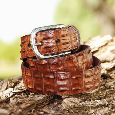 Hornback Croc Belt