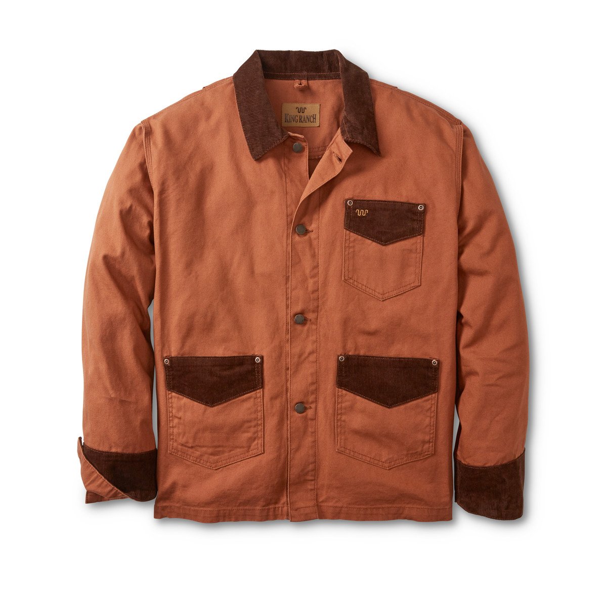 Kineno jacket is rugged cotton canvas inspired by the original fabric that sheltered westward bound wagon trains