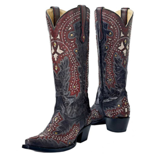 Studded Filigree Boots