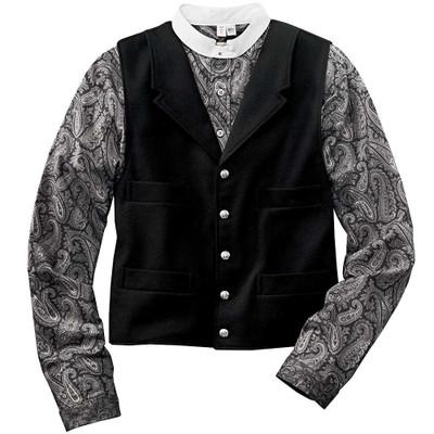 Paisley Banded Collar Shirt