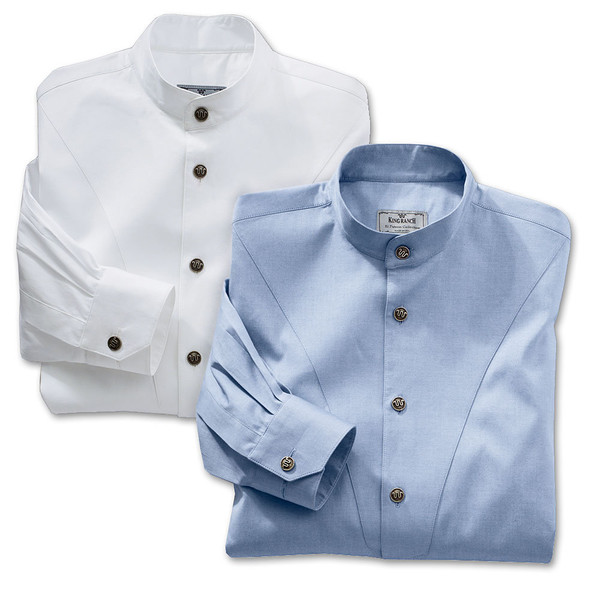 Convertible Banded Collar Pinpoint