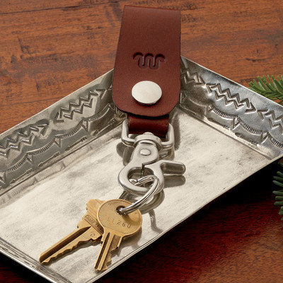 Running W® Leather Key Fob