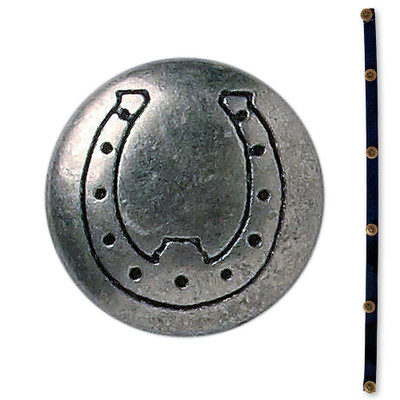 Nickel Horseshoe Button Strip for C