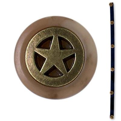 Patina Star Button Strip