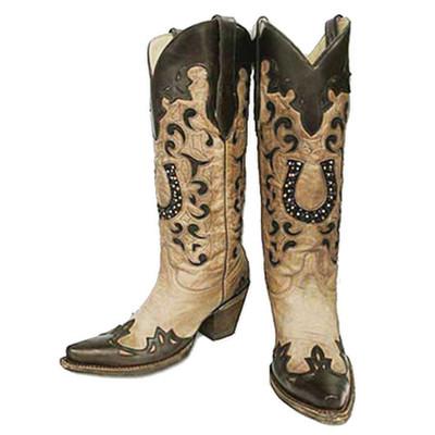 Crystal Horseshoe Boot