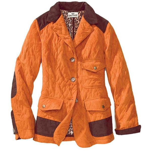Orange Classic Quilted Jacket