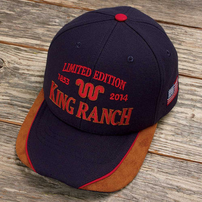 blue and orange baseball cap