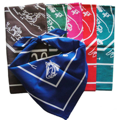 multiple colored western hankerchief