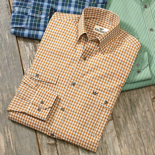 Gold/Navy Check Remington Shirt