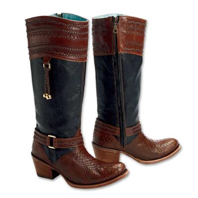 Python Whip Stitch Boots