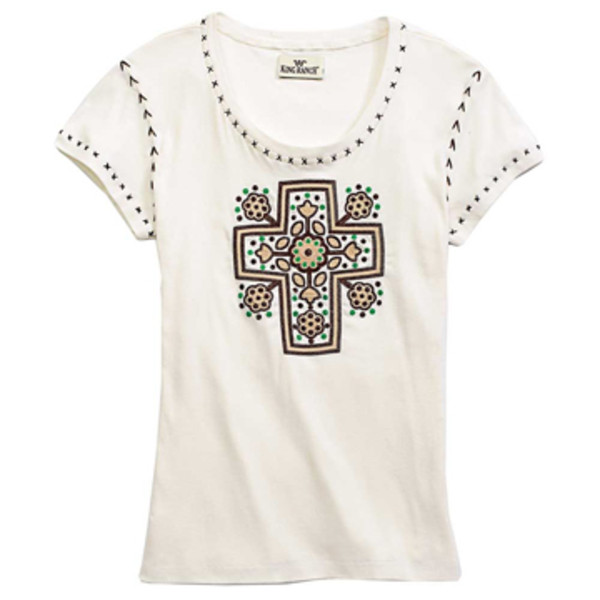 Embroidered Cross Tee