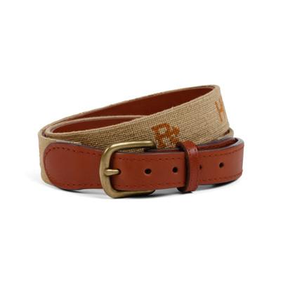 Needlepoint King Ranch Brands Belt