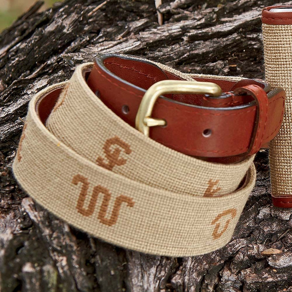 Needlepoint King Ranch Brands Belt