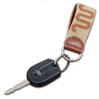 Needlepoint Running W® Key Fob