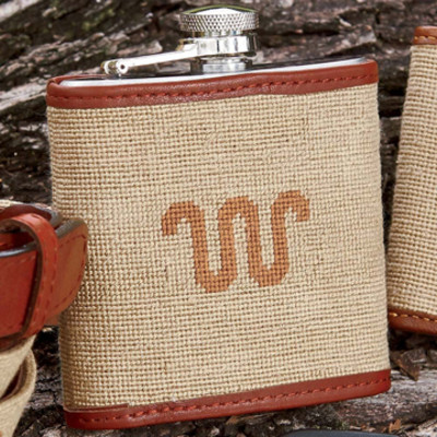 Needlepoint Running W® Flask