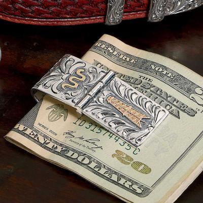Oil Derrick Money Clip