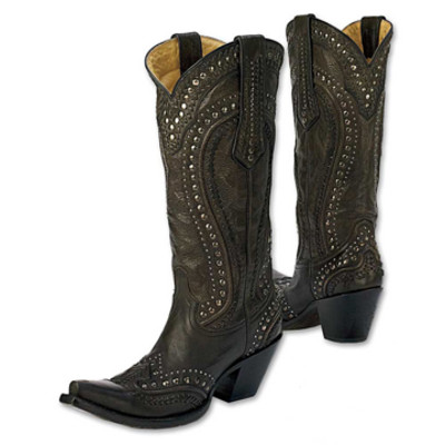 Black Cord Stitch Boots
