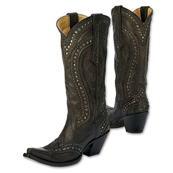 black cord stitch boots king ranch saddle shop