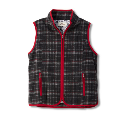 Plaid Riding Vest