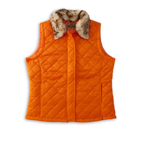 Orange Quilted Vest
