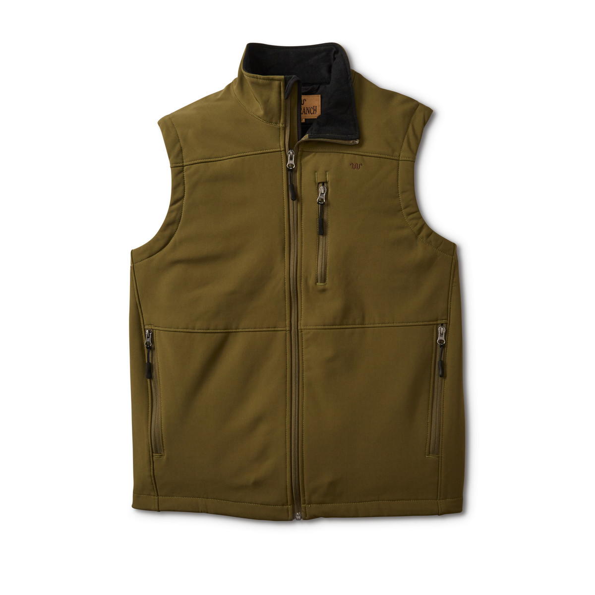 Men's Bonded Poly Vest features three front zippered pockets