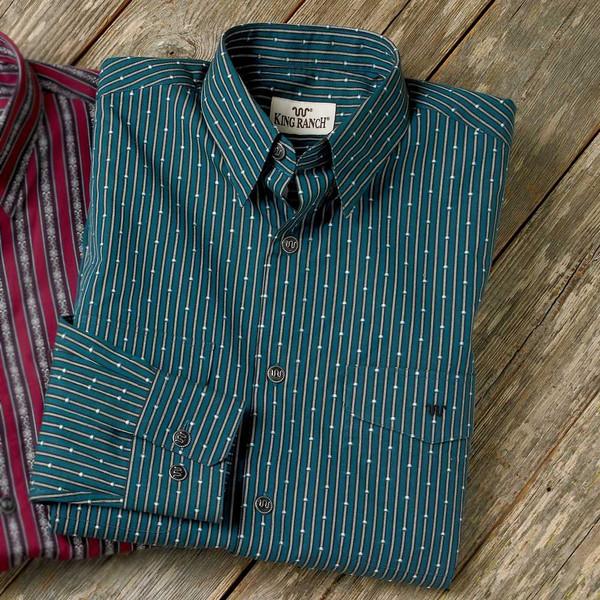 Colt Stripe Shirt - Dark Teal