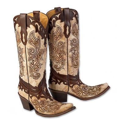 Crackle Bone Boots